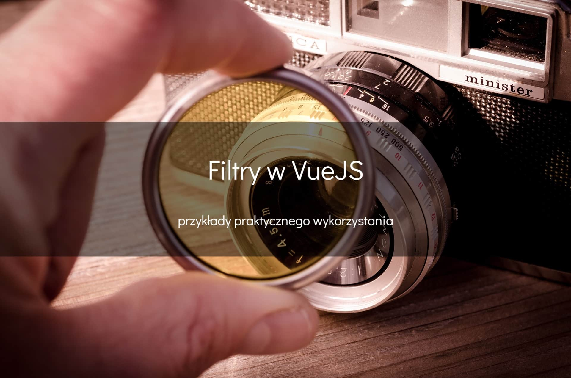 Filtry w VueJS - okładka