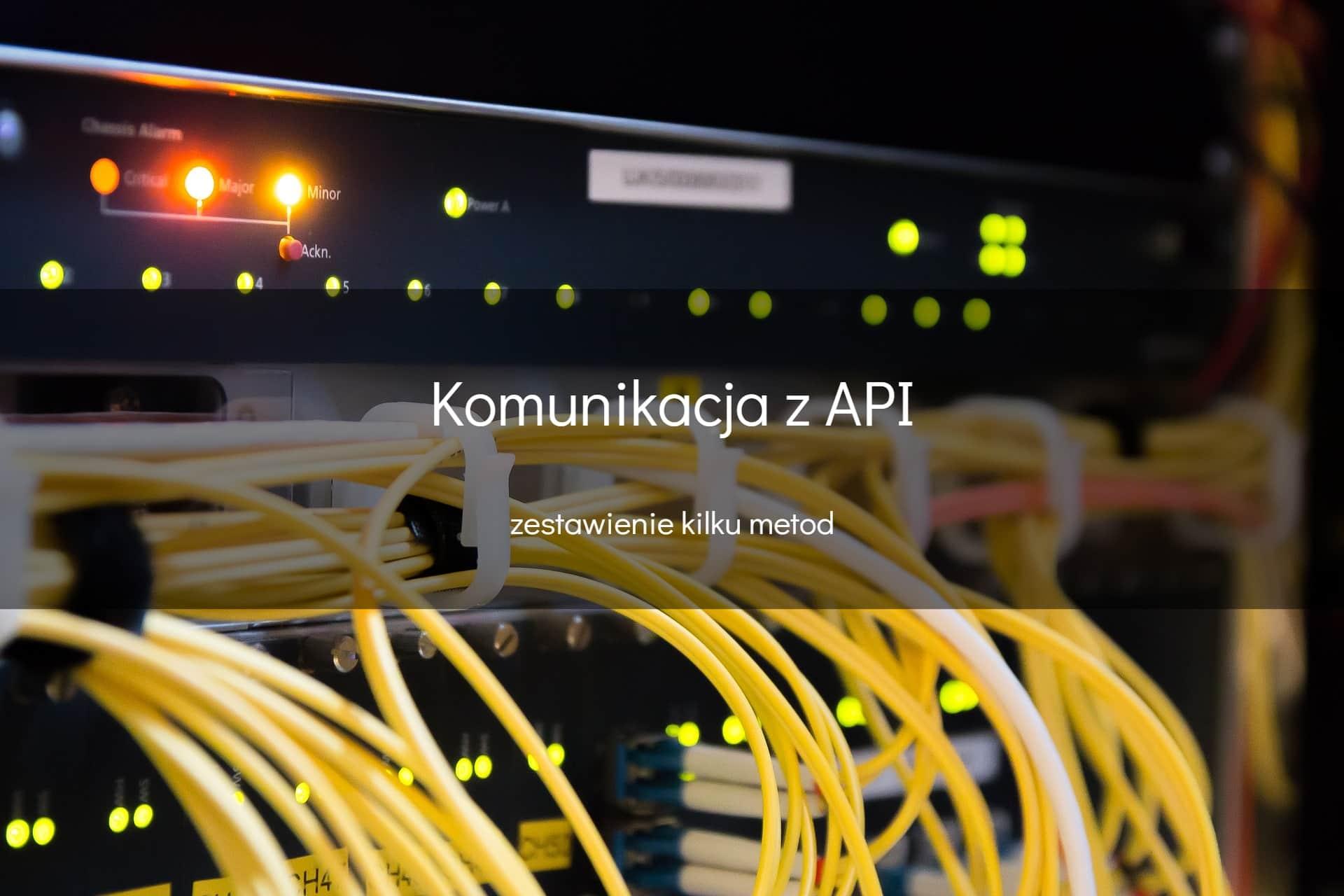 Komunikacja z API - okładka