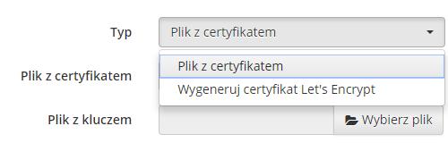 Dodawanie SSL nanaszą stronę