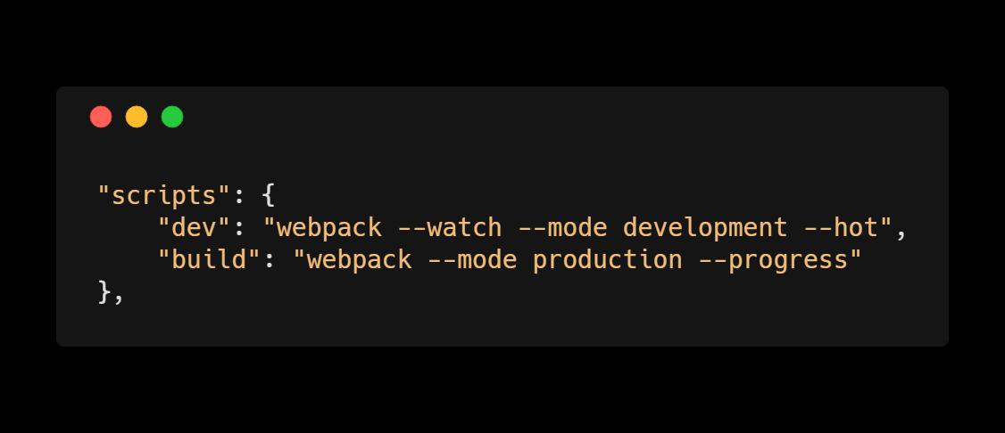 Webpack - package.json