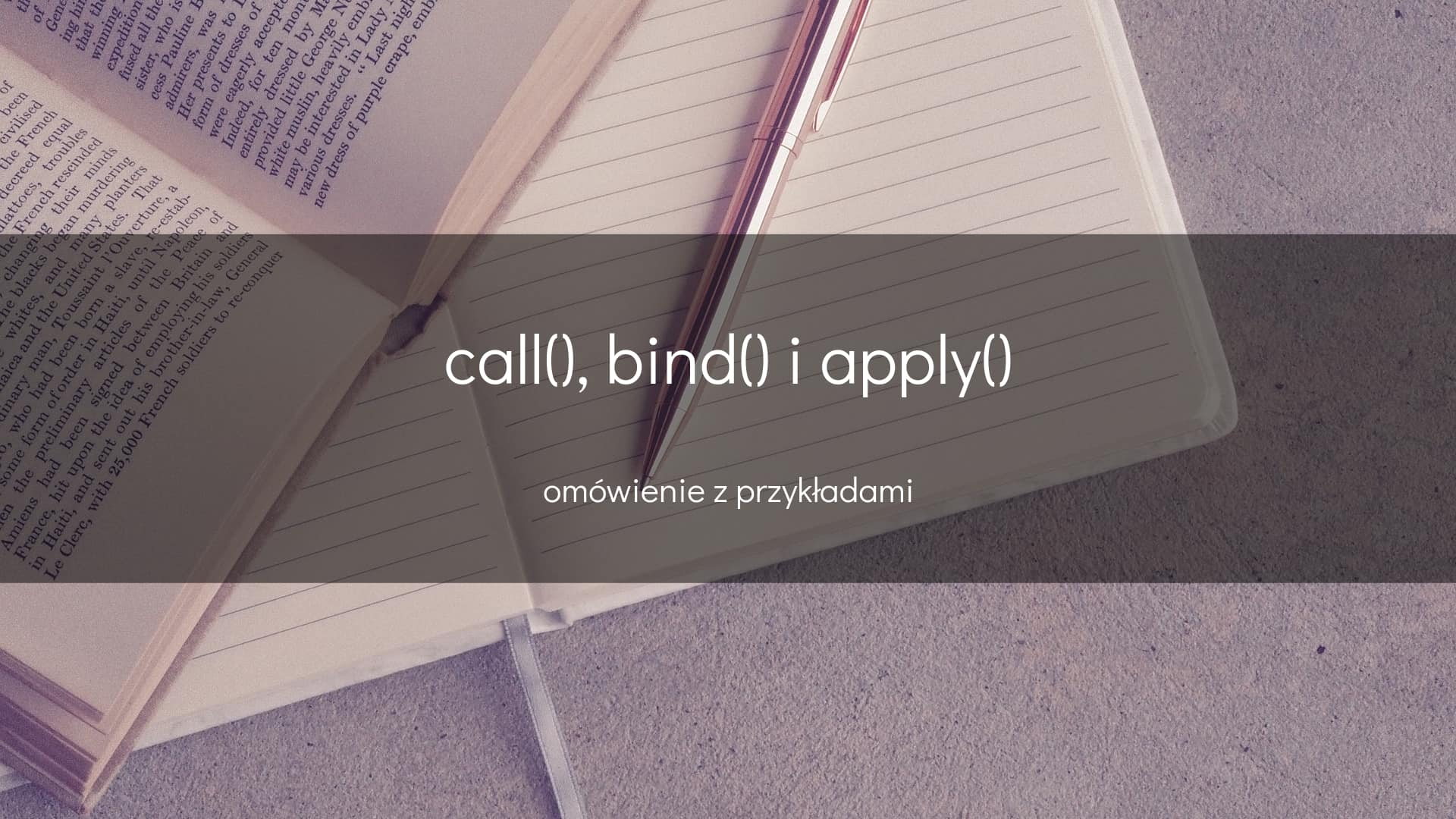Call bind apply - okładka