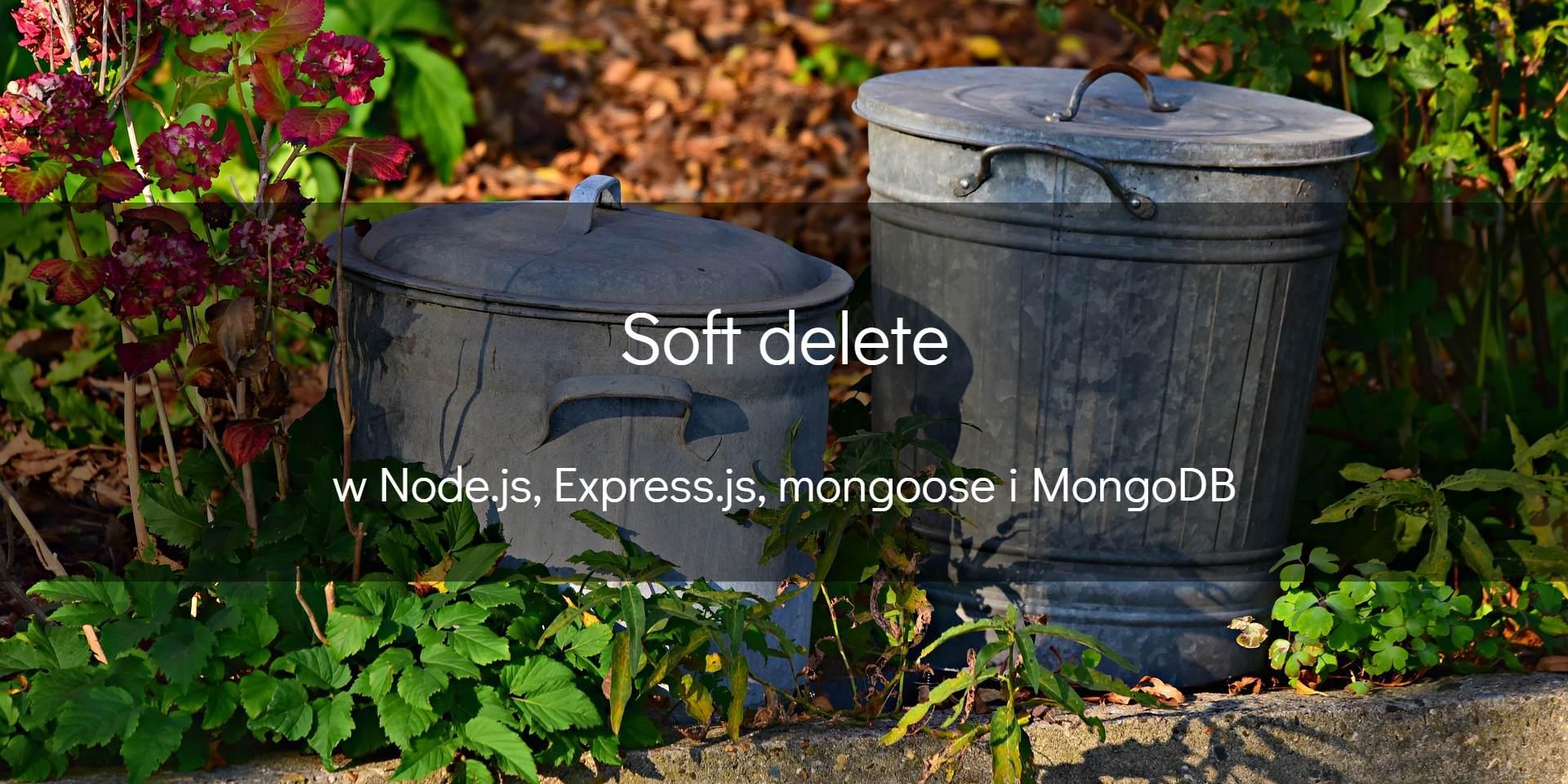 Co nieco osoft delete przy użyciu Node.js iMongoDB