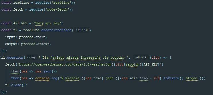 Spójny code style - poprawiony kod