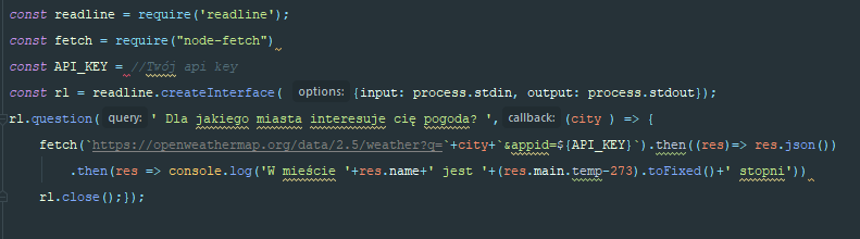 Nieczytelny kod