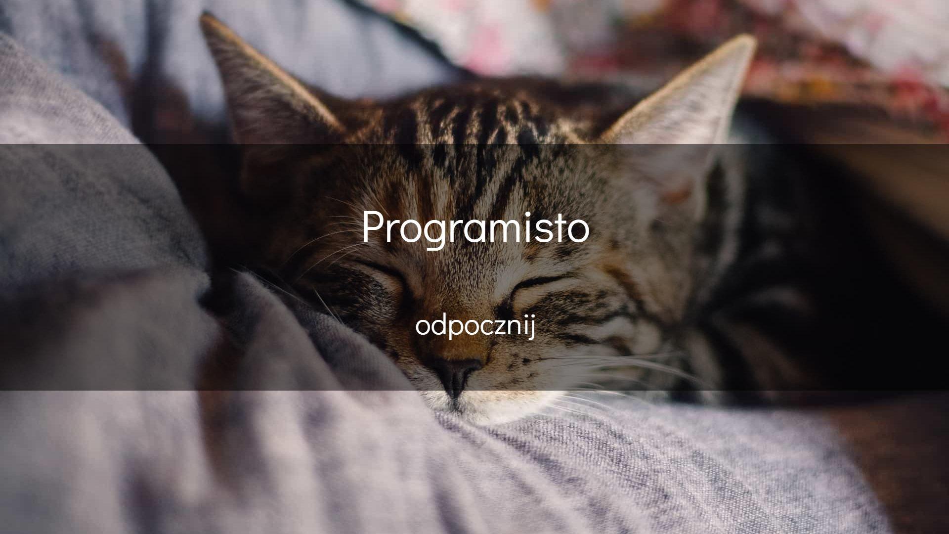 Programisto, odpocznij…