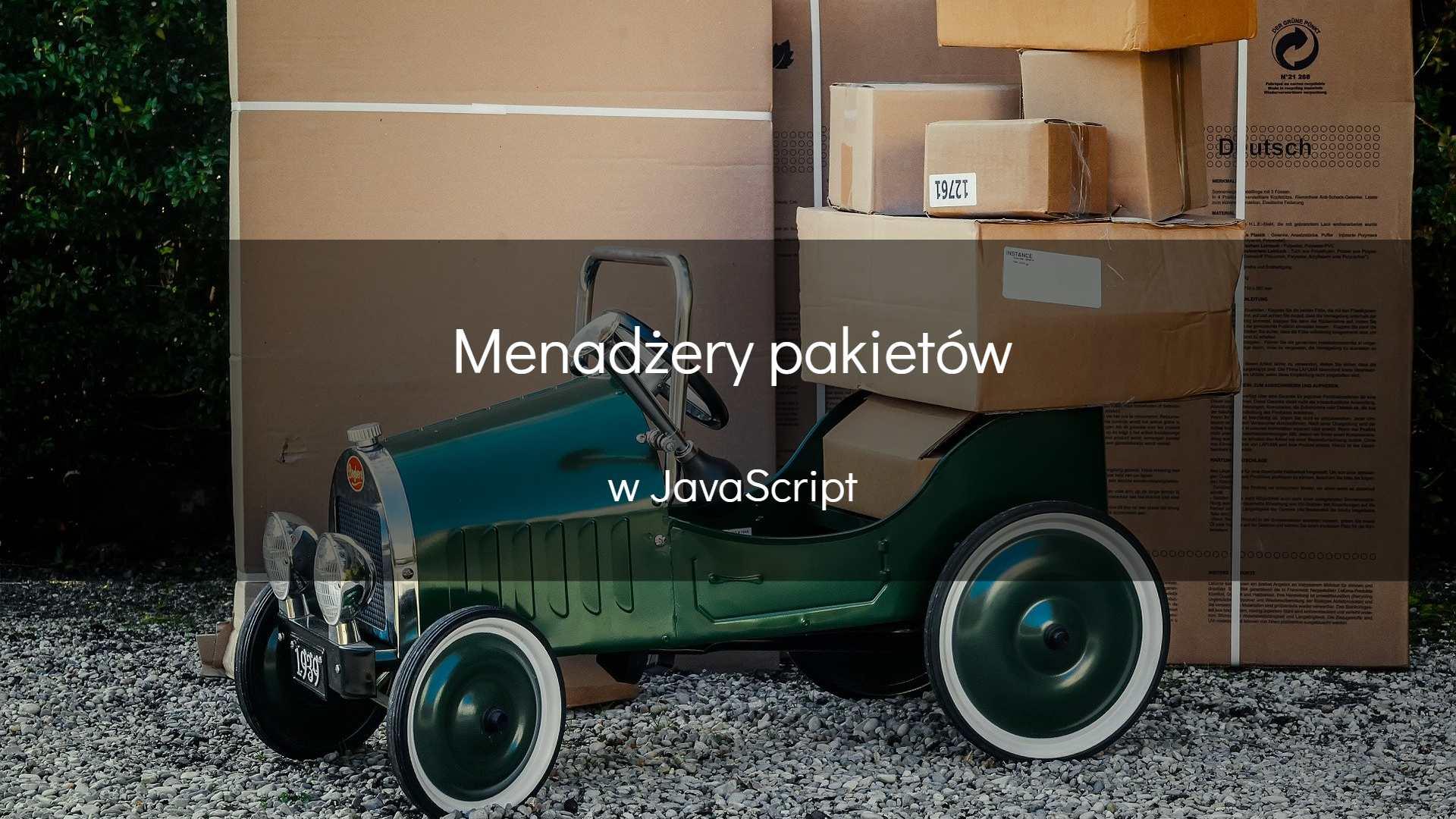 Menadżery pakietów w JavaScript - okładka