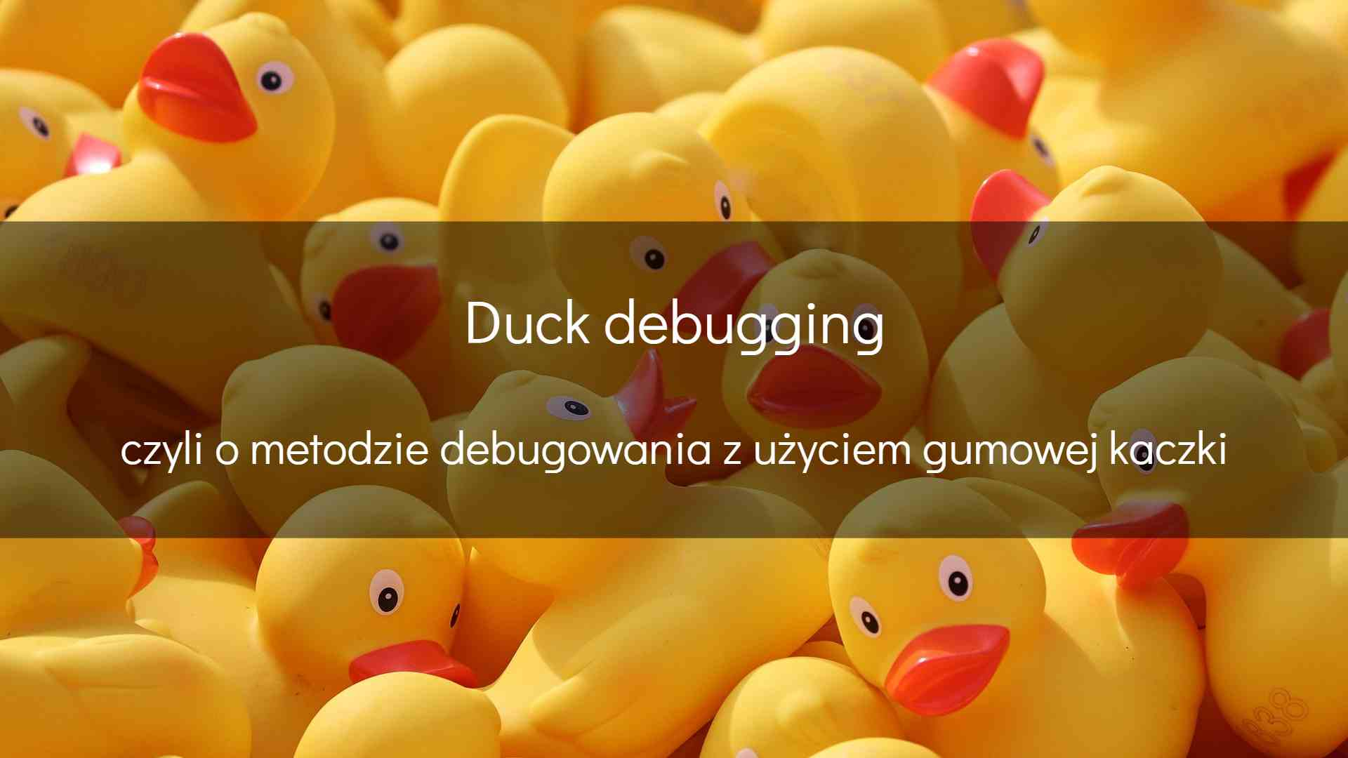 Duck debugging - okładka